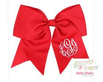 "Personalized Monogrammed Large 6.5"" Classic Cheer Bow - Girls Softball Team Softball - Monogram Bow"
