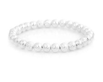 Silver bracelet,everyday bracelet,silver bead bracelet,silver jewelry,silver bracelet,gift for girlfriend, gift for her