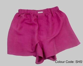YES New Silk Boxer Shorts M-XL Men Underwear Short Underpants Soft Briefs Trunk