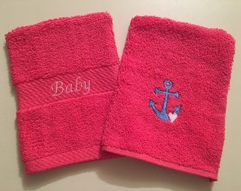 Baby Wash Mitts/Anchor/Baby Bath - Set of 2