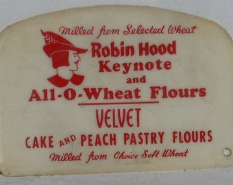 Vintage Robin Hood Flour Plastic Dough Pastry Scraper Cutter