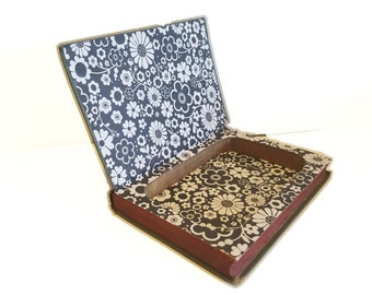 Hollow Book Safe The Office Wife Cloth Bound vintage Secret Compartment Keepsake Box Hidden Security Box