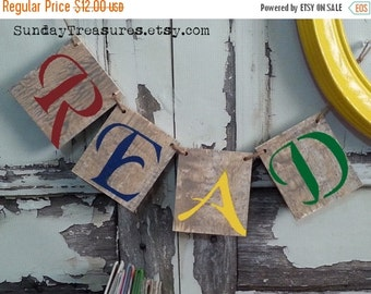 SALE READ Wood Sign Banner, Choose Banner or Blocks, Ready To Ship