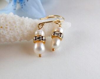 Pearl Bridal Earrings ~ AdoniaJewelry
