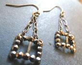 SALE My Sweet Petite...Antique Steampunk Steel Cut Buckle Earrings