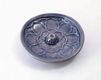 Incense Burner  Handmade  Lotus POTTERY CERAMIC