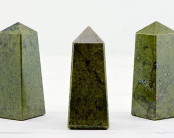 Green Jade Gemstone Obelisk - Stone of Blessings