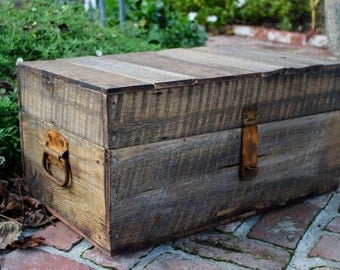 Storage Table - Wooden Trunk - Handmade - Rustic Wood - Whiskey Box - Container - Storage - Home Decor - Apartment Furniture - Organize