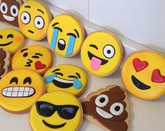 Emoji Cookies - 1 Dozen