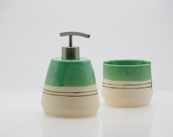 Soap dispenser - Pottery Dispenser - Ceramic dispenser - Modern kitchen - Bath soap dispenser - Housewarming gift