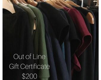 200 Dollar Gift Certificate