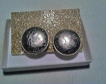 Coin Earrings (Mass) Adjustable Free Shipping !