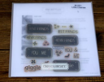 Acrylic Stamp Set, Close to My Heart, Little License, B1221