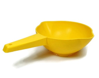 Yellow Tupperware Strainer Colander 1 quart