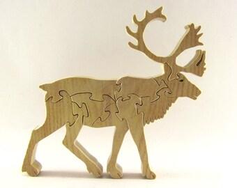 Reindeer (Caribou) Wood Puzzle