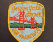Vintage San Francisco embroidered travel patch Golden Gate Bridge California