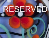 RESERVED for *J.L* Secret Rose Garden- 1 big free shaped lampwork bead - Art Glass by Michou P. Anderson (Brand/ Label Sonic & Yoko)