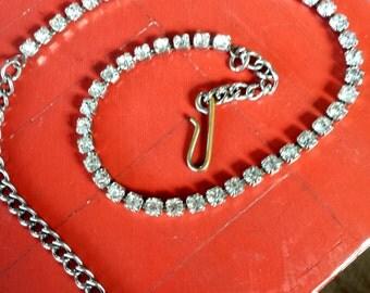Rhinestone Choker Necklace, Vintage Necklace
