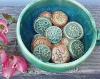 50 Bee Magnet Handmade Pottery Magnets Wedding and Baby Shower Favors
