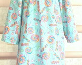 Size 5/6 Glitter Candy Shoppe Flannel Nightgown Girls