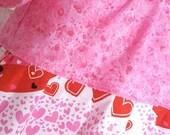Size 5/6 Glitter Valentine  Peasant Play Dress