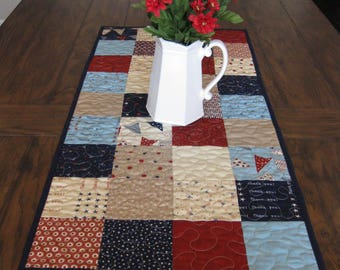 Red, White & Free from Moda Table Runner