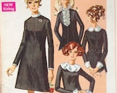 Wednesday Addams Vintage 60s Mod Goth Dress Pattern 38 bust 1960s Simplicity 8083