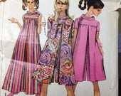 Vintage 60s Pantdress Tent Dress Pattern 34 bust