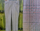 45% OFF 70s Plaid Pants For Men, Vintage Pants by Clubman, 70s Costume Waist Size 33