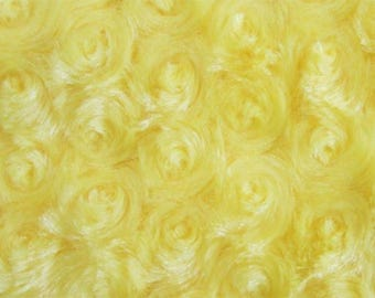 "Fabric  Photo Floor Prop 36"" x 36"" baby craft blanket quilt 1 yd X 1 yard FAUX ROSE FUR yellow"