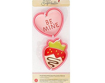 Strawberry Cookie Cutter, Heart Cookie Cutter, Sweet Sugarbelle Cookie Cutters, Valentine's Sweets Cookie Cutters, Valentines Cookie Cutters