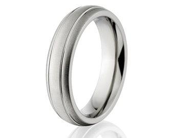 New 5mm Comfort Fit, Custom Titanium Ring, Free Sizing Band 4-17: 5HR2GXB