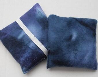 Hand Warmer Rice Bag - Navy Blue Swirl - Lavender Scented