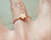 Rose gold star  ring size us 7