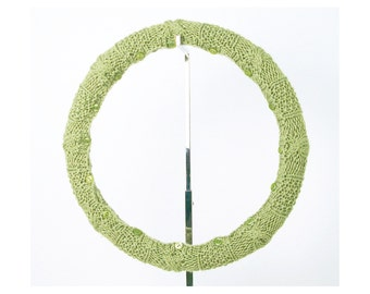 SALE! Easy Care Knit Steering Wheel Cover (Spring Green) with Safety Rubber Backing, Machine Washable