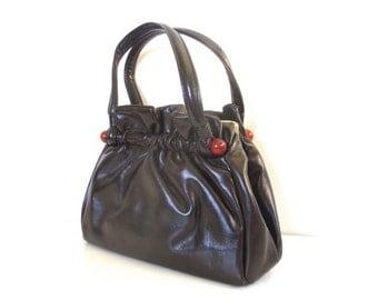 Vintage Brown and Tortoise Handbag