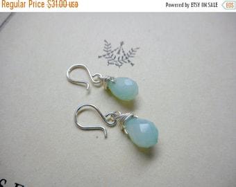 The Whisper Earrings. Amazonite Earrings. Drop Earrings. Amazonite Jewelry.  Dangle Earrings Sterling Silver Spirit Tear