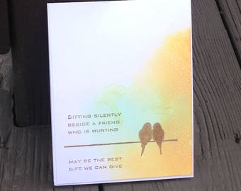 Sympathy Card, Grief and Mourning Card, Here for You Card, Get Well Card, Sorry You Are Sick