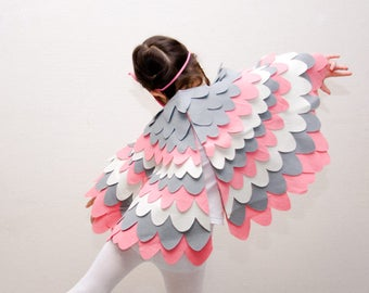 Kids Fancy Dressing up Wing Set, Costume Accessory, Bird Wings for Children, Halloween, Carnival, for Girls, Toddlers