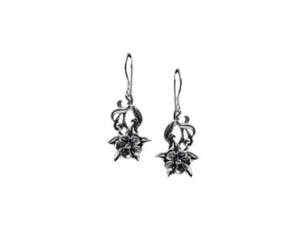 Columbine Flower Dangle Earrings