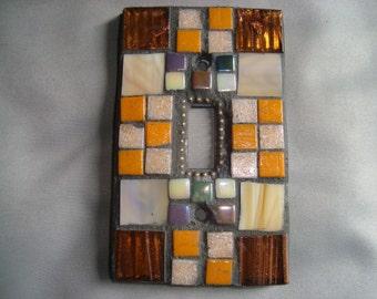MOSAIC Light Switch Plate -  Single Switch, Wall Plate, Wall Art, Multicolored