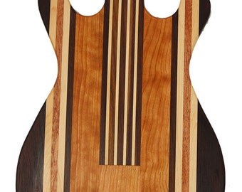 Small Guitar - Gibson 335 shaped cutting board made to order