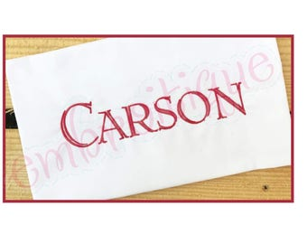 "Carson Engraved Monogram Font   - 1"", 1.5"", 2"", 2.5"", 3"", 4"", 5"" - BX Files included- Instant Download Machine embroidery design"