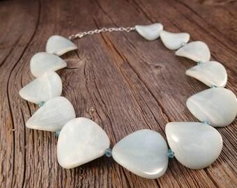 Sea Green Aventurine Petals Necklace
