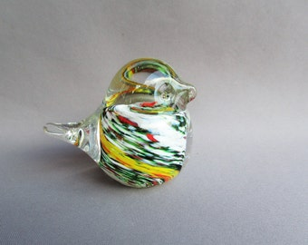 Hand Blown Glass Art Mini Bird