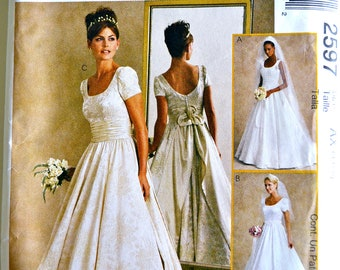 McCall's 2597 Alicyn Misses Bridal Gowns Size 4-8 UNCUT