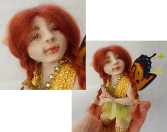 Aubree Woodland OOAK Fairy Fairies Art Doll Figurine NEW Polymer Clay Sculpture Fantasy Art