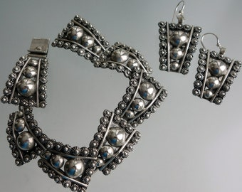 Cuernavaca Mexico Sterling Bracelet Earrings
