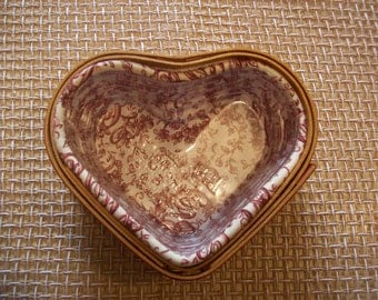 Longaberger Basket Heart Shaped with liner Valentine Love