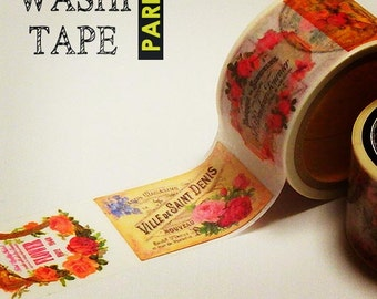 Antique masking tape - Pink Perfume Bottle - 30mmW - Washi